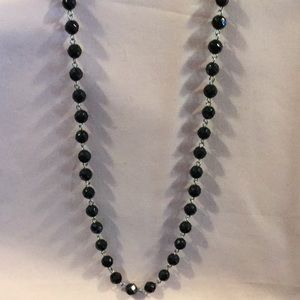 White House, Black Market, Black Chrystal Necklace